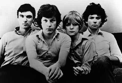 Talking Heads; from L-R: David Byrne, Chris Frantz, Tina Weymouth, and Jerry Harrison. Photo by Echoes/Redferns.