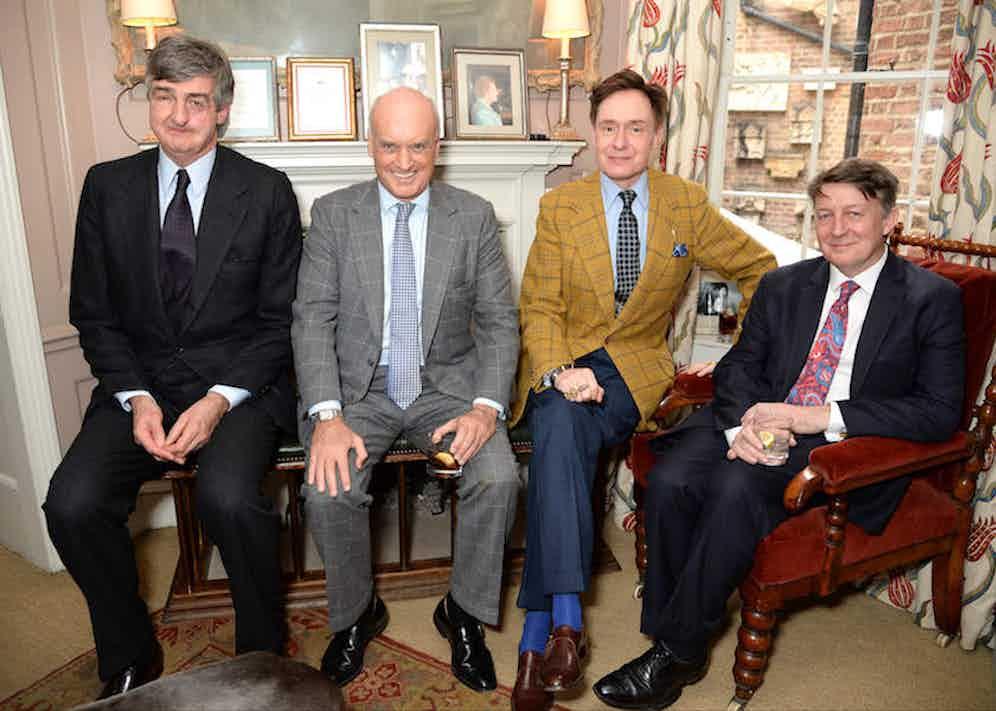 Robin Birley, Nicholas Coleridge, Nick Foulkes and Mark Hedges