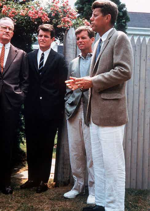 John F. Kennedy, President of USA with his brothers Robert and Edward Kennedy. Photo courtesy of Alamy.