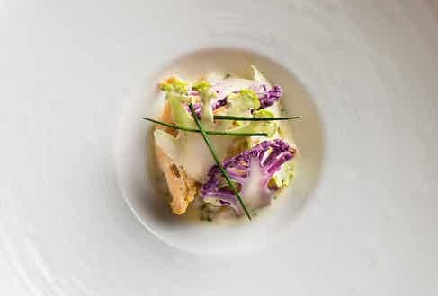 Cauliflower and Crab Meat prepared by Eric Ripert, Chef of Le Bernardin in NYC.