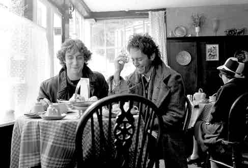 British actors Richard E. Grant and Paul McGann in 'Withnail & I', 1986. Photo by Murray Close/Getty Images.