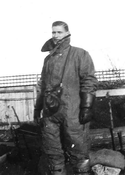 Flight Lieutenant Gerald Imeson in flying gear, 1941.