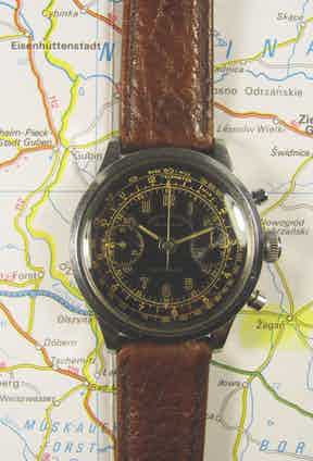 Flight Lieutenant Gerald Imeson's Rolex showing dial side, caseback and movement.