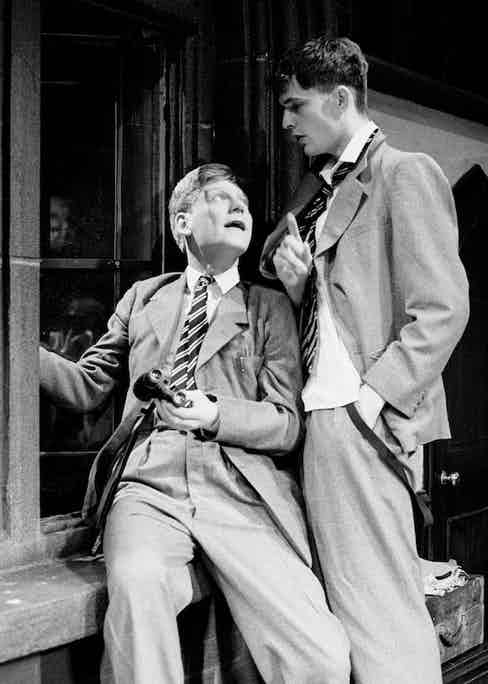 Rupert Everett and Kenneth Branagh in Another Country at the Queens Theatre, London, 1982. Photo by Alastair Muir/REX/Shutterstock.