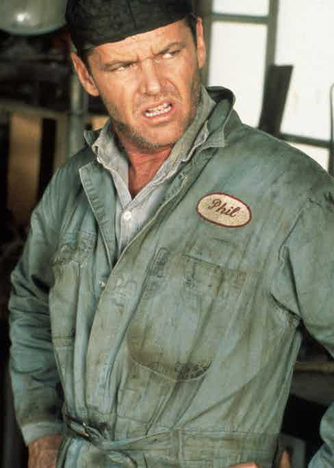 Jack Nicholson in The Postman Always Rings Twice, 1981. Photo by SNAP/REX/Shutterstock.
