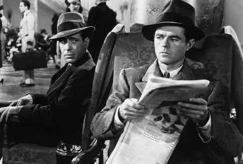 Humphrey Bogart and Elisha Cook Jr in The Maltese Falcon, 1941. Photo by Warner Bros/First National/REX/Shutterstock.