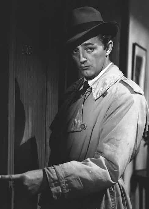 Robert Mitchum in Out of the Past, 1947. Photo by RKO/REX/Shutterstock.