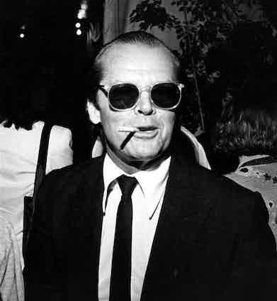 Jack Nicholson at a premiere, 1982.  Photo by Globe Photos Inc/REX/Shutterstock.