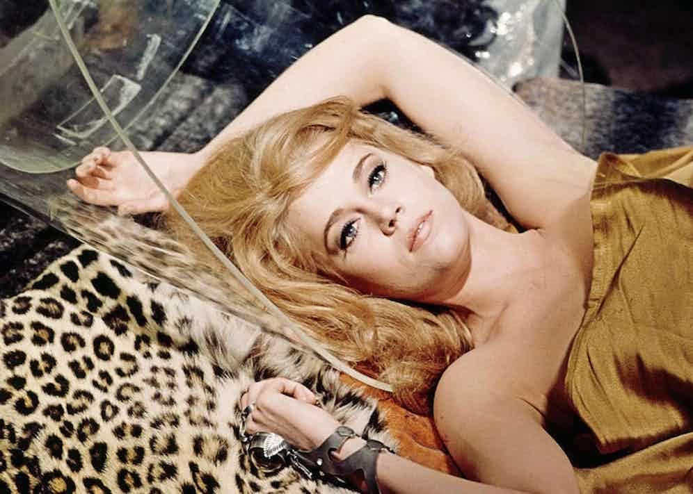 Jane Fonda in Barbarella, 1968. Photo by Paramount/REX/Shutterstock.