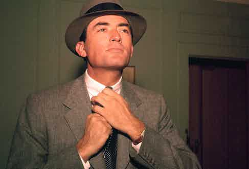 Gregory Peck in The Man in the Gray Flannel Suit, 1956. TM and Copyright © 20th Century Fox Film Corp. Photo by Alamy.