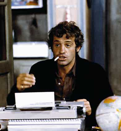 Jean Paul Belmondo in Le Magnifique, 1973. Photo by Alamy.