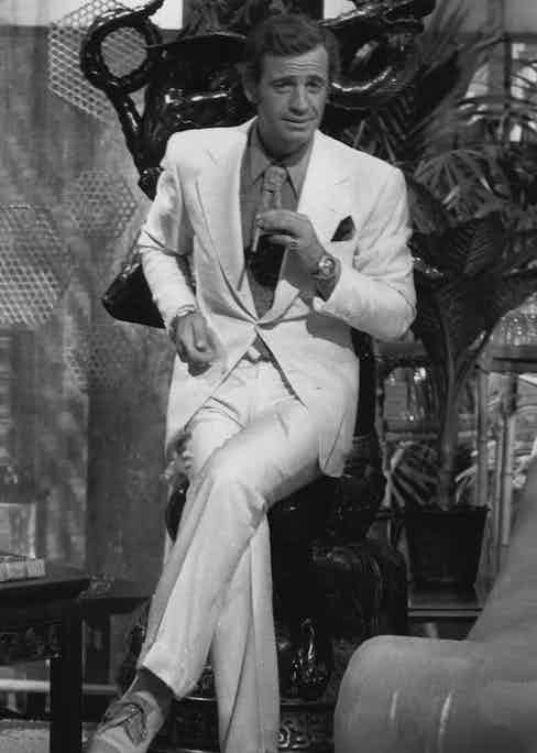 Jean-Paul Belmondo in Le Magnifique, 1973. Photo by Films Ariane/Mondex/Oceania/REX/Shutterstock.