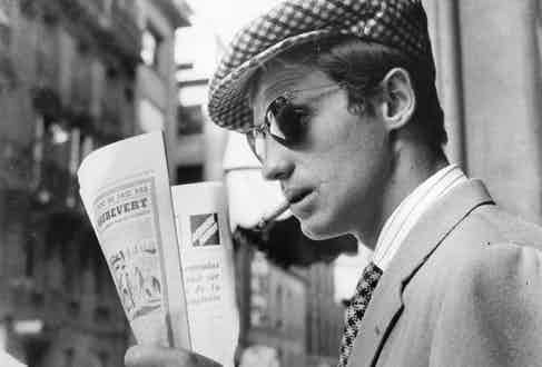 Jean-Paul Belmondo in Breathless, 1960.