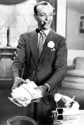 Fred Astaire in A Damsel In Distress, 1937. Photo by Moviestore/REX/Shutterstock.
