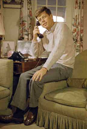 JFK was a big advocate of the loafer. Pictured circa 1957 wearing G.H. Bass & Co Weejuns.