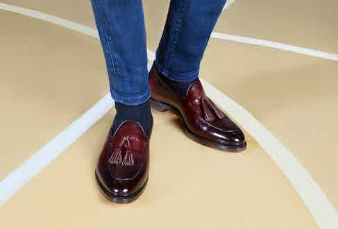 Santoni tassel loafers.
