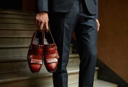 Santoni loafers.