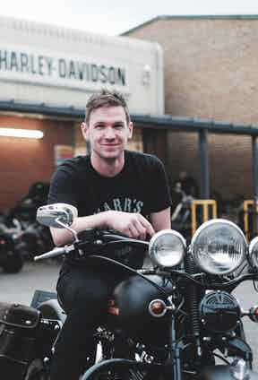Charlie Stockwell of Warr's Harley Davidson in London.