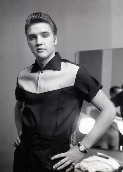 Clean cut but with an edge; Elvis had it all.