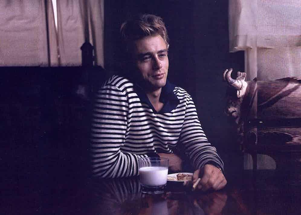James Dean wearing Saint James. Image courtesy of Saint James's archives.