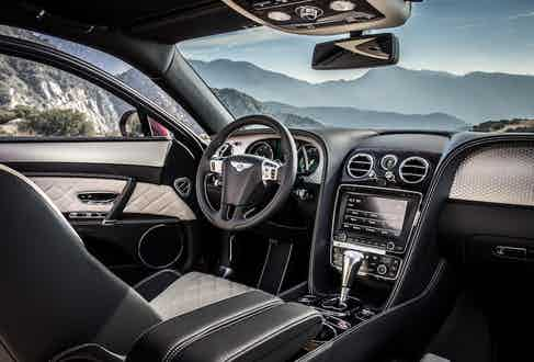 Typically lavish, Bentley's interiors are some of the most opulent available on the market.