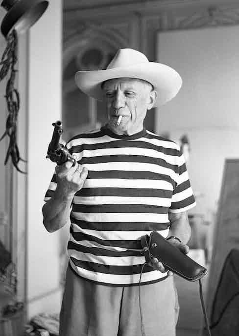 Pablo Picasso shot by Robert Doisneau, circa 1952.