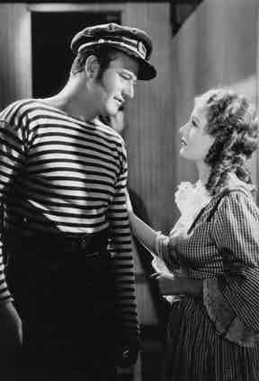 John Wayne and Diana Gibson in Adventure's End, 1937.
