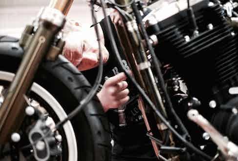 Amazingly, each Warr's custom retains its Harley factory warranty.