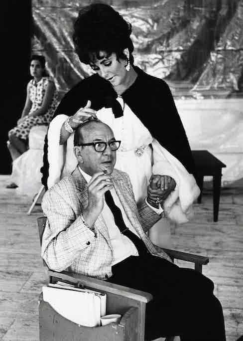 Noel Coward and Elizabeth Taylor in Boom!, 1968. Photo by Bob Penn/Universal/REX/Shutterstock.