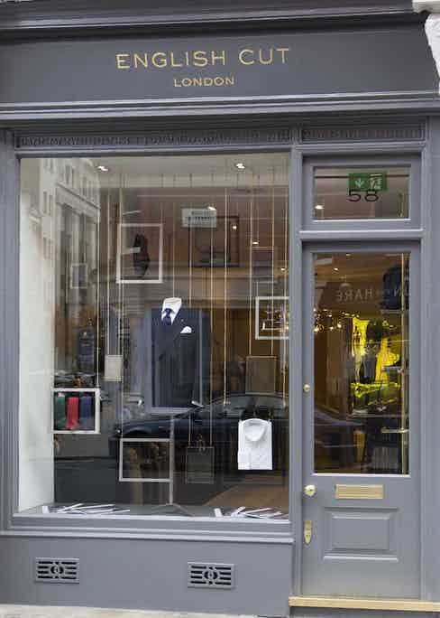 The window display of English Cut's store on London's Chiltern St.