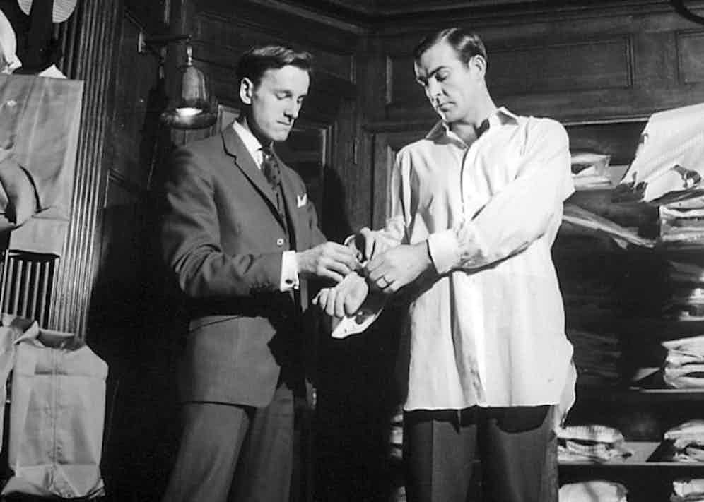 Sean Connery being fitted for a shirt at Turnbull & Asser by Michael Fish, circa 1965.