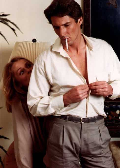 Richard Gere and Lauren Hutton in American Gigolo, 1980.