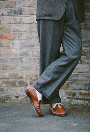 James is true to his own style manifesto, even down to his shoes - Bass Weejuns represent a seminal moment in men's footwear in the 1950s, when they were adopted by young people and catapulted to staple status by their easy wearability and comfort. They, too, look just as great today as they did 70 years ago.