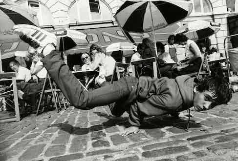 Break Dancers dancing in Covent Garden, London, August 1984. Photo by David Crump/ANL/REX/Shutterstock.