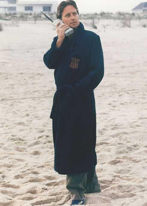 Michael Douglas as Gordon Gekko in Wall Street, 1987. Photo by 20th Century Fox/Kobal/REX/Shutterstock.