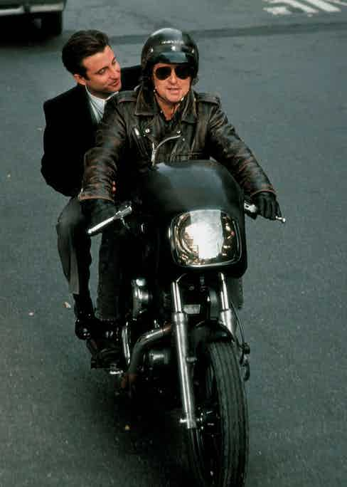 Michael Douglas and Andy Garcia in Black Rain, 1989. Photo by Alamy.