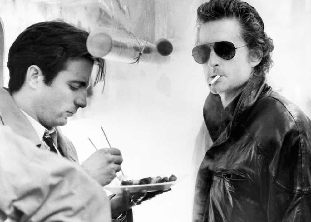 Andy Garcia and Michael Douglas in Black Rain, 1989. Photo by Alamy ©Paramount/courtesy Everett Collection.