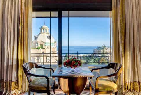 A view from a suite at the Hotel Metropole, Monaco.