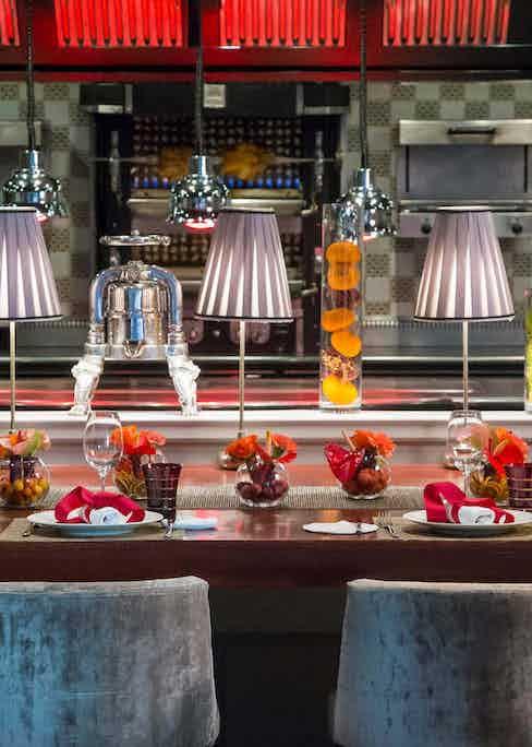 Michelin-starred contemporary Japanese restaurant Yoshi inside the Hotel Metropole.
