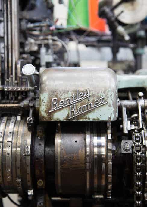 An old Bentley knitting machine.