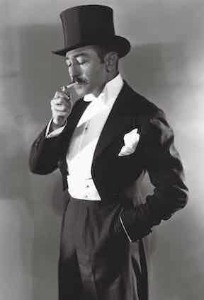 Adolphe Menjou, 1930. Photo by George Hurrell/MGM/REX/Shutterstock.