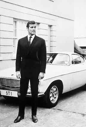 Roger Moore in The Saint, circa 1966. Photo by REX/Shutterstock.
