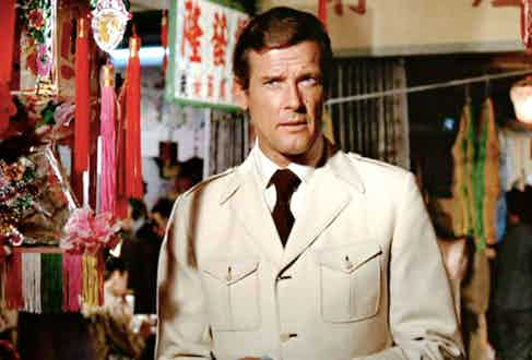 Roger Moore in The Man With The Golden Gun, 1974.
