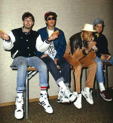 Beastie Boys Adam Yauch, Mike Diamond, DJ Hurricane and Adam Horovitz. Photo by Ilpo Musto/REX/Shutterstock.