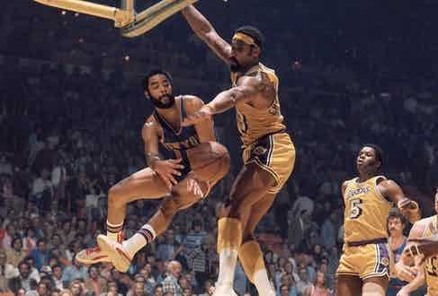 """Walter """"Clyde"""" Frazier competes for the New York Nicks during the 1973 Championship."""