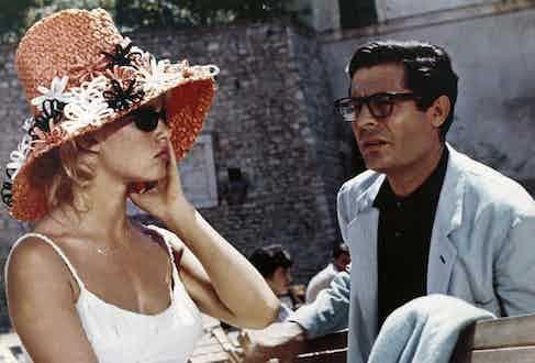 Brigitte Bardot and Marcello Mastroianni in A Very Private Affair, 1961. Photo by ScreenProd/Photononstop/Alamy Stock.