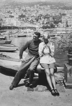 Cary Grant and Grace Kelly filming Alfred Hitchcock's 'To Catch A Thief' in Monaco, 1955. Photo by Paramount/Kobal/REX/Shutterstock.
