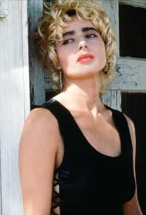 On set as Perdita Durango in David Lynch's film Wild At Heart, 1990.