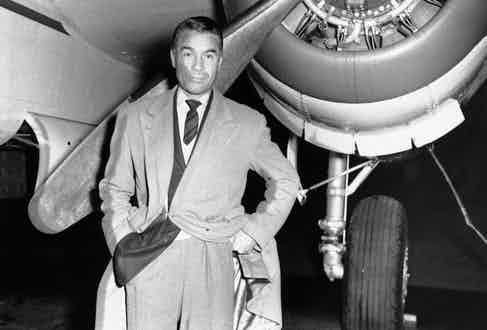 Rubirosa pictured at Teterboro Airport before flying to Paris to meet Zsa Zsa Gabor, in 1954. Image by © Bettmann/CORBIS