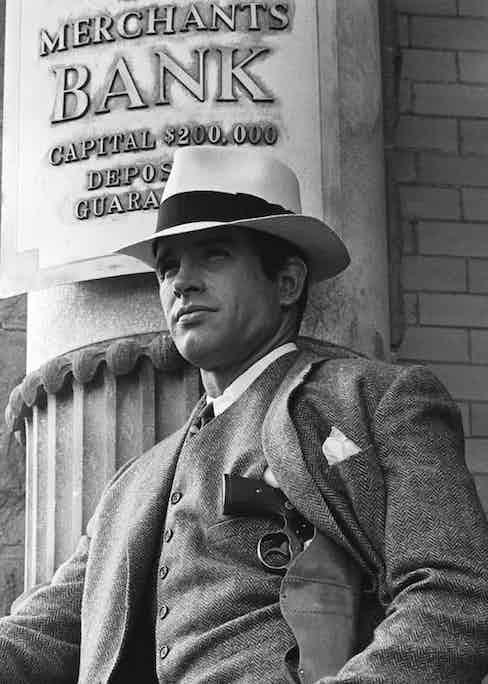 Warren Beatty in Bonnie & Clyde, 1967.